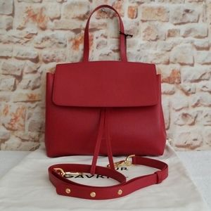 New Mansur Gavriel Mini Lady Saffiano Satchel Bag